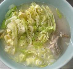 レタスラーメン(塩とんこつベース)