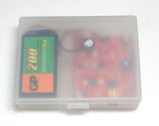 GP電池+無印ケース=ピッタリ
